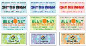 In tem chống giả kỹ thuật cao chất lượng hàng đầu