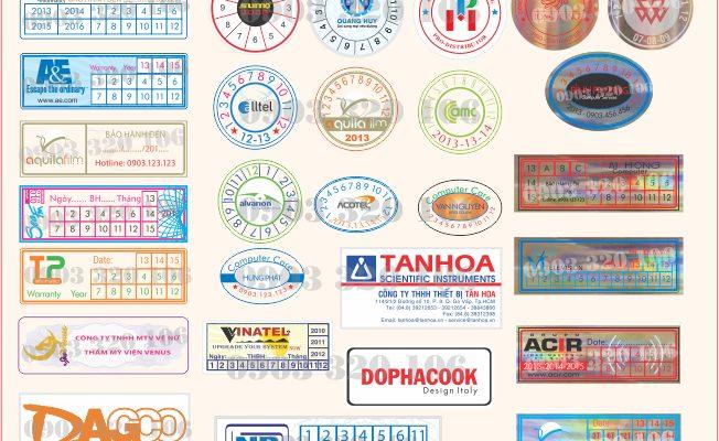 In tem chống giả kỹ thuật cao với giá rẻ và chất lượng