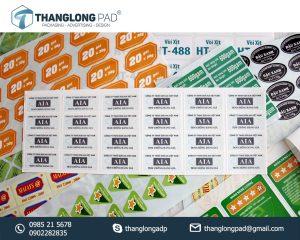 In tem phụ decal giấy giá rẻ tại hà nội